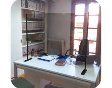 Mampara protección oficina